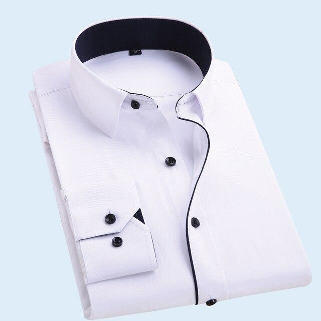 Марка одежды мужчины рубашку с длинными рукавами откорма Нет утюг большой код бизнес сплошной цвет Тонкой работы Multi-color мульти-код