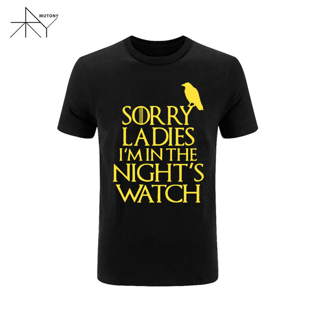 Game of Thrones Night Watch Summer Casual Short Sleeves Men's T-shirt