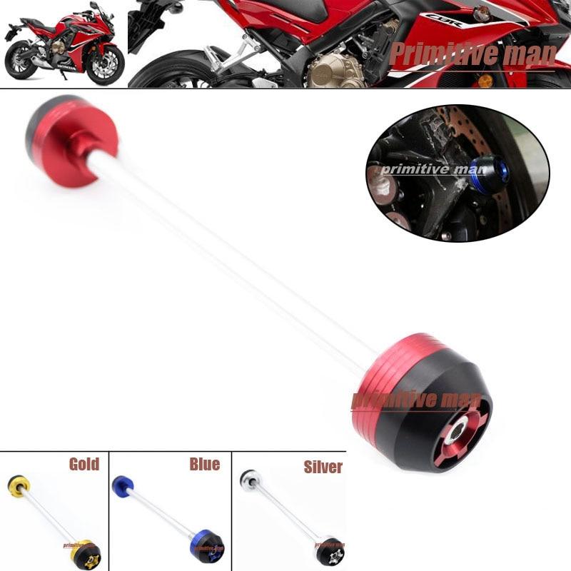 Para honda cbr650f 2013-2014 accesorios de motos eje delantero fork crash slider
