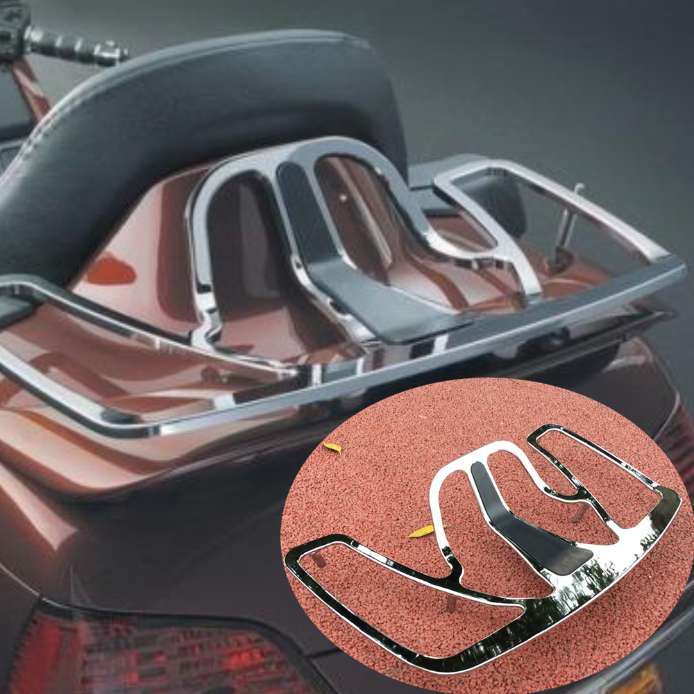 Motorcycle Chrome Trunk Luggage Rack case Aluminum For Honda Goldwing GL1800 GL 1800 2001 2017 motorbike