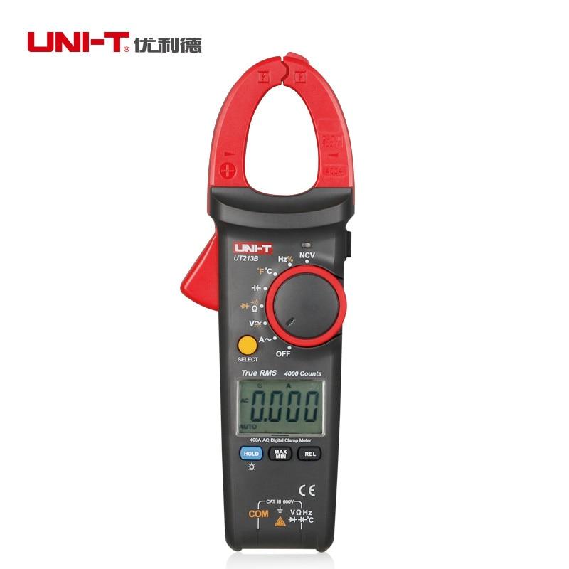 Digital Clamp Meters UNI-T UT213B True RMS AC 400A Multimeters Digital Multimeter Digital Clamp Meters мультиварка oursson mp5015psd ga