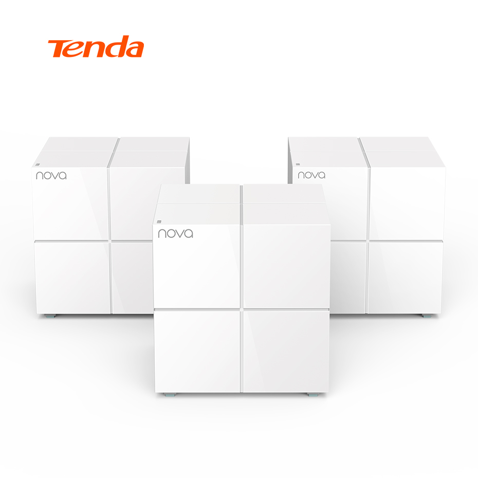 Tenda Nova MW6 Wireless Wifi Mesh Router Dual Band Gigabit 1000Mbps WiFi Router Repeater APP Remote Manage,Works with Alexa