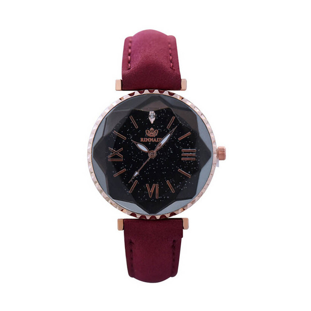 Fashion Women Watches Female Personality Romantic Starry Sky Leather Wrist Watch