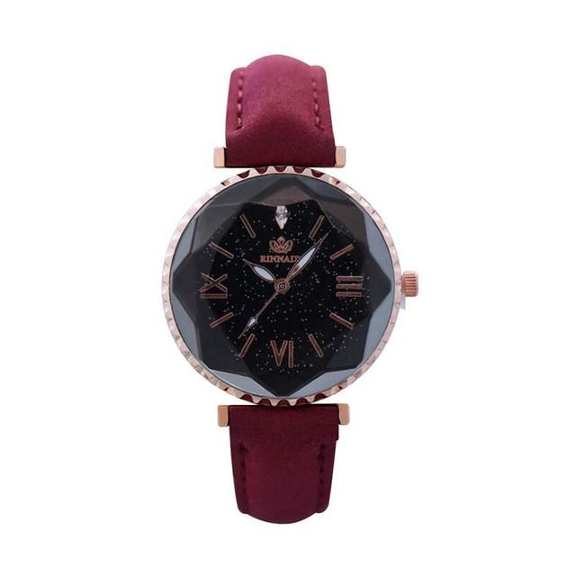 Fashion Women Watches Female Personality Romantic Starry Sky Leather Wrist Watch