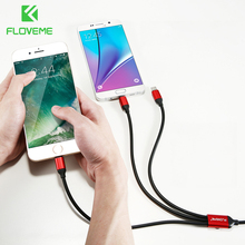 FLOVEME New 3 in 1 Triple Cable for Apple +Type-C+Micro USB