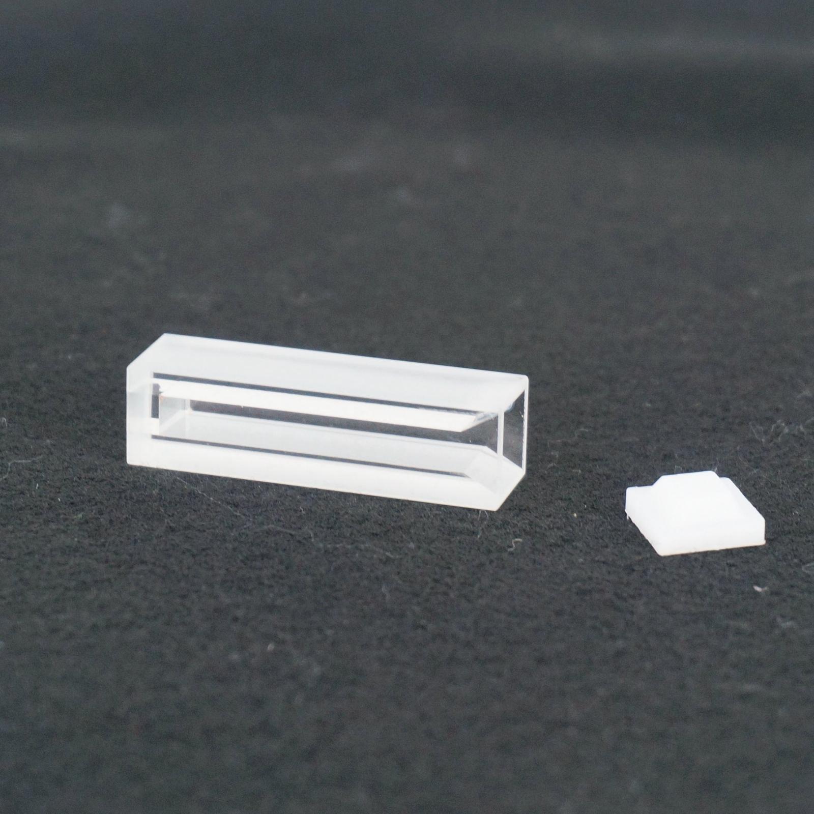 1400ul 10mm Path Length Micro JGS1 Quartz Cuvette With Telfon Lid