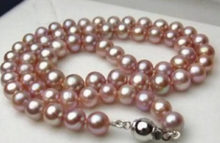 FREE SHIPPING>>>@@ S New 2015 ! 8MM purple shell pearl necklace 18 inches JT6695 neclaces for women christmas gift(China)