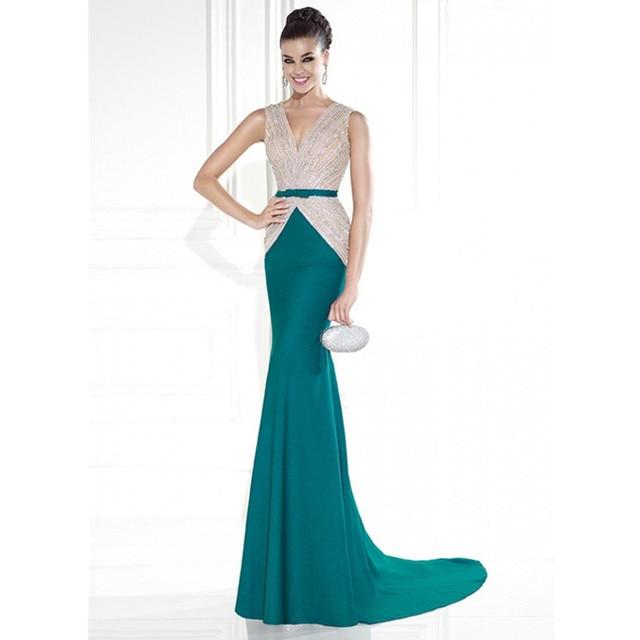 Emerald Green Evening Dress 92585 Elegant Long Mermaid Evening Gowns ...