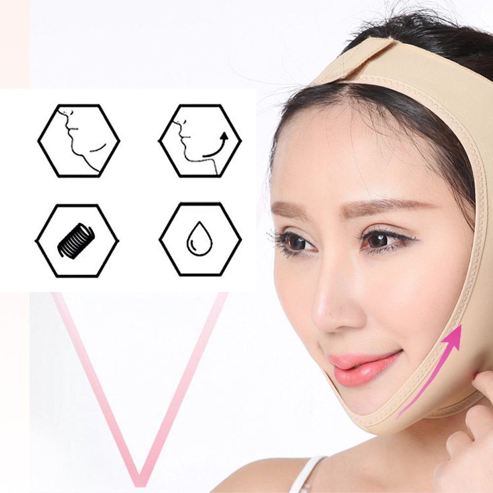 V-Line Face lifting for woman beauties face slimmer chin lift bandage V-ShapeBreathable Lifting Firming Thin Reduce Double Chin