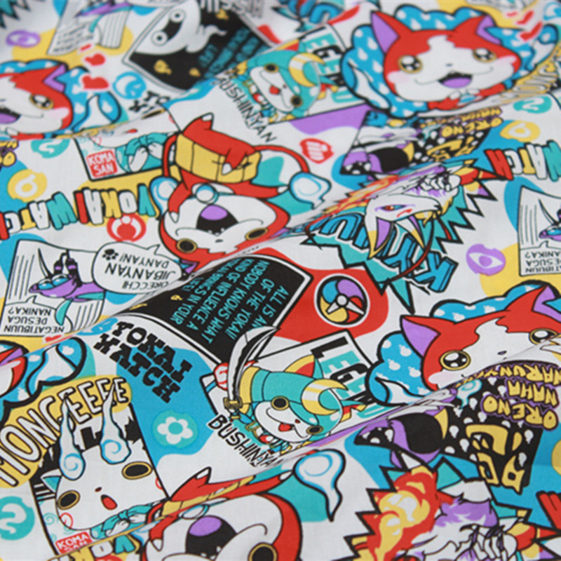 50 140cm Kids Japanese Cartoon Animation Cotton Fabric