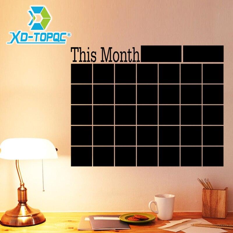 2019 PVC Blackboard Presentation Boards Chalk Board Wall-stickers Office Blackboard Stickers Memo Message Board Free Shipping