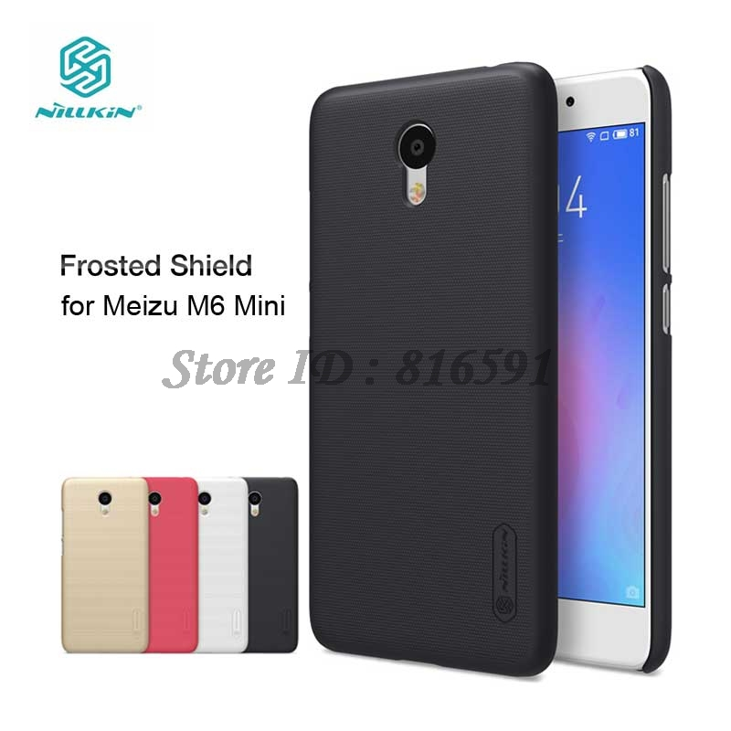 Nillkin Meizu M6 Mini Case Meizu M6 Mini Cover 5.2 inch Frosted Shield Hard Back Case With Screen Protector