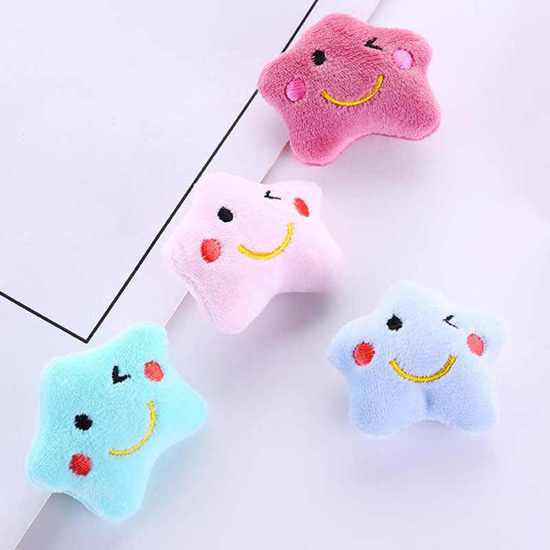 aad2888c891 50Pcs Lot Mini Cute Small Plush With Smiley Five-pointed Star Stuffed Plush  Toy