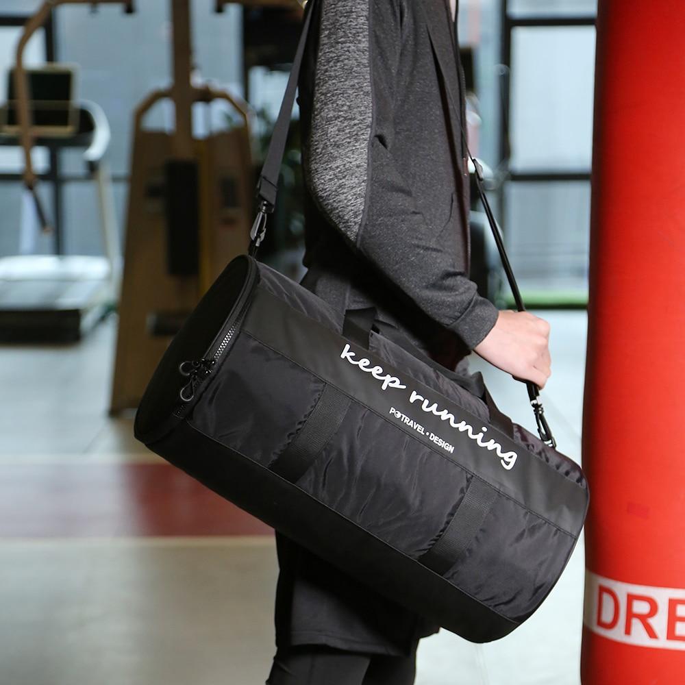 Seco mojado separado bolsa de gimnasio bolsa de viaje bolsa de lona para entrenar viajes deportes de Yoga entrenamiento Fitness deportes al aire libre natación