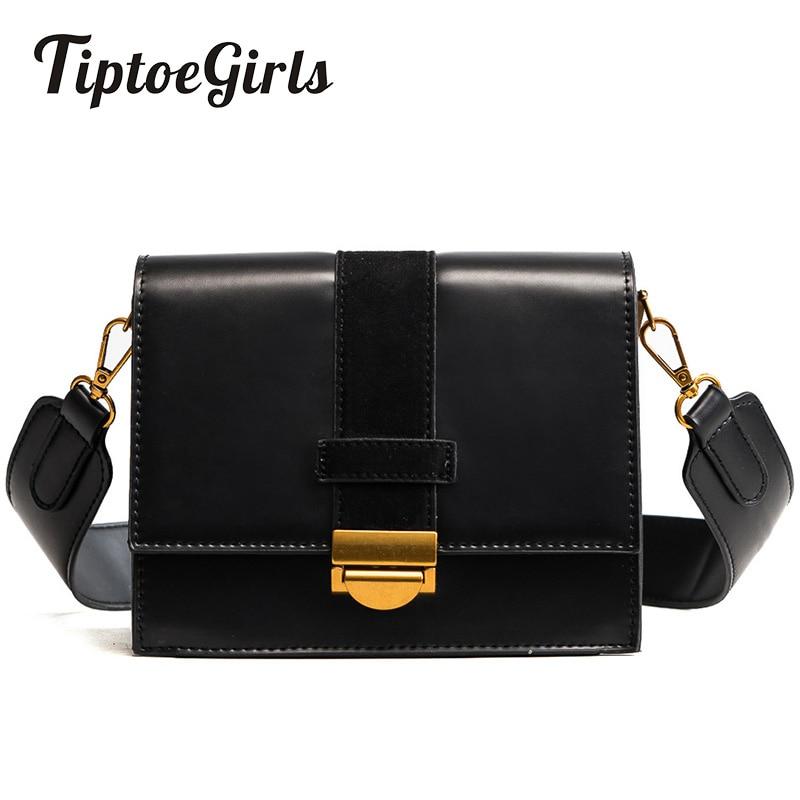 Lock Bag Female Winter New Handbags Europe and the United States Solid Color Retro Shoulder Bag Diagonal Shoulder Strap Package