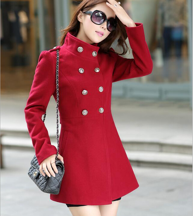 Aliexpress.com : Buy High quality winter coat women warm wine red ...