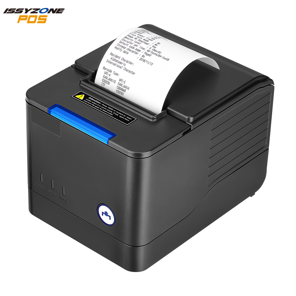 IssyzonePOS 3 Inch Printer Thermal Receipt 80mm POS Printer Supermarket Kitchen Store USB Ethernet Alarm Queue Order For Windows