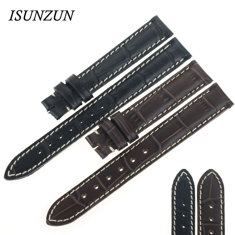 ISUNZUN Women's Watch Band For Longines L2 Genuine leather Watch Band original Strapps Brand Leather Watchband For Women longines часы купить в москве