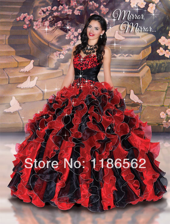 Online Get Cheap Red Black Quinceanera Dresses -Aliexpress.com ...