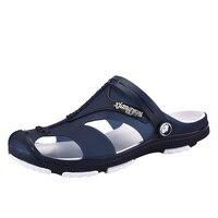 SAGACE 2019 hommes sandales été pantoufles chaussures Croc mode plage sandales décontracté plat sans lacet tongs hommes creux chaussures J26
