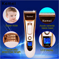 2016 Kemei Professional Electric LCD display Hair Clipper Rechargeable Hair Trimmer Shaver Razor Cordless for Men Baby Comb Kits