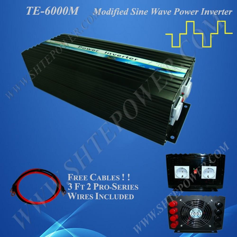 цена на dc to ac power inverter 6kw 48v 6000w inverter