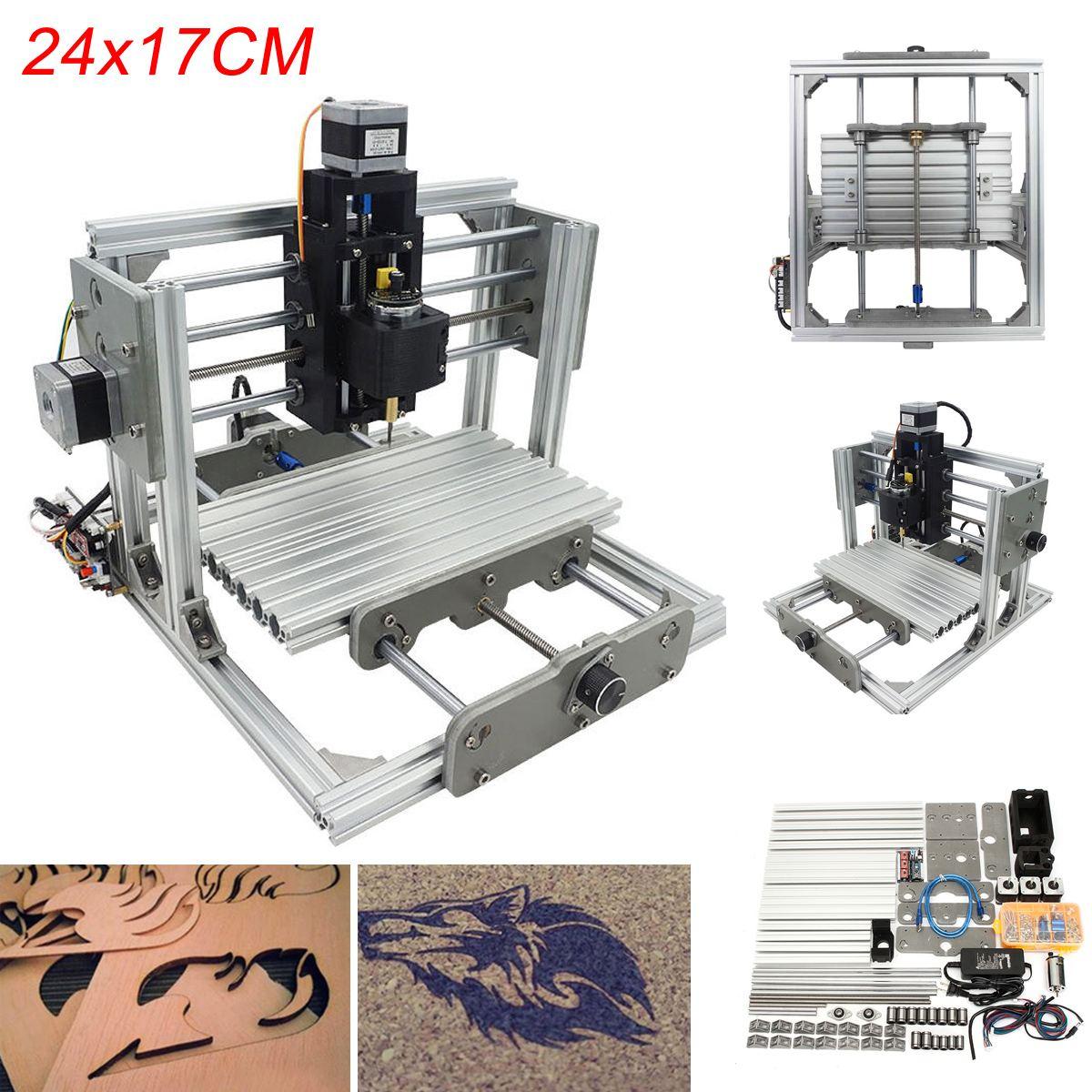 Mini 3 Assi CNC di Fresatura per Incidere Macchina FAI DA TE Kit di Montaggio USB Desktop Incisore In Metallo PCB Fresatura Zona di Lavoro Della Macchina 24x17 cm