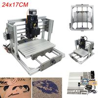 Mini 3 Axis CNC DIY Engraving Milling Machine Assembly Kit USB Desktop Metal Engraver PCB Milling Machine Working Area 24x17cm