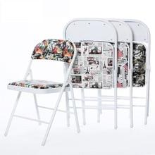 6 шт./партия, портативный складной стул, простой офисный домашний металлический обеденный стул, конференц-стул для отдыха cadeira La silla