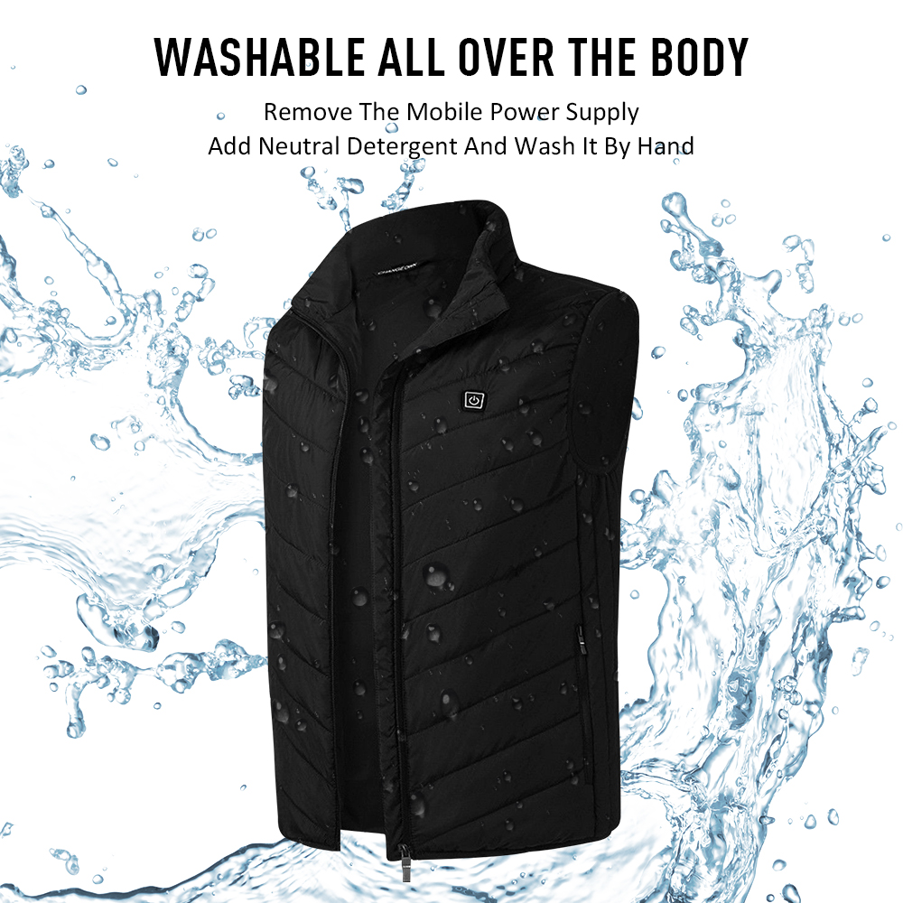 2018 New Men Electric Heated Vest Winter USB Charging Thermal Skiing Heating Vest Hot Heating Clothes Outdoor Hiking Jacket