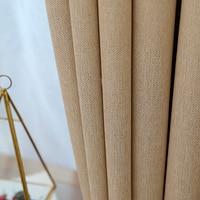 Gigizazaソフトタッチ綿黒アウト固体生地カーテン用リビングルームグレーカスタムサイズシェードアメリカスタイル用寝室
