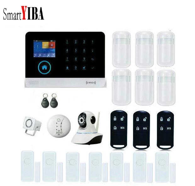 SmartYIBA Intelligent WIFI GSM Dual-Network Burglar Alarm system for Home Security Protection Alarm System With IP Camera jumper folding magnetic keyboard case for ezpad 4s pro tablet