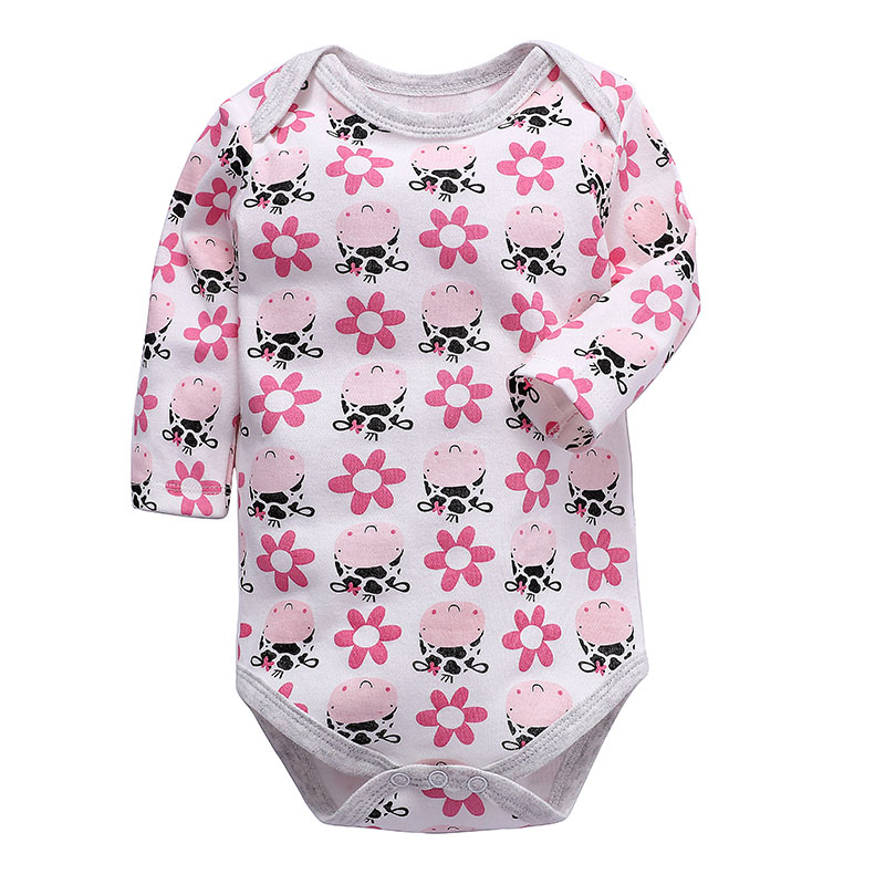 Newborn Bodysuit Baby Boys Girls Clothing Long Sleeve 3-24 Months 100% Cotton Toddler Infant Child Kids Clothes