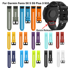 22mm Quick fit band for Garmin fenix 5 Forerunner 935 20 26mm silicon watch bracelet strap 3 3HR 5S 5X belt