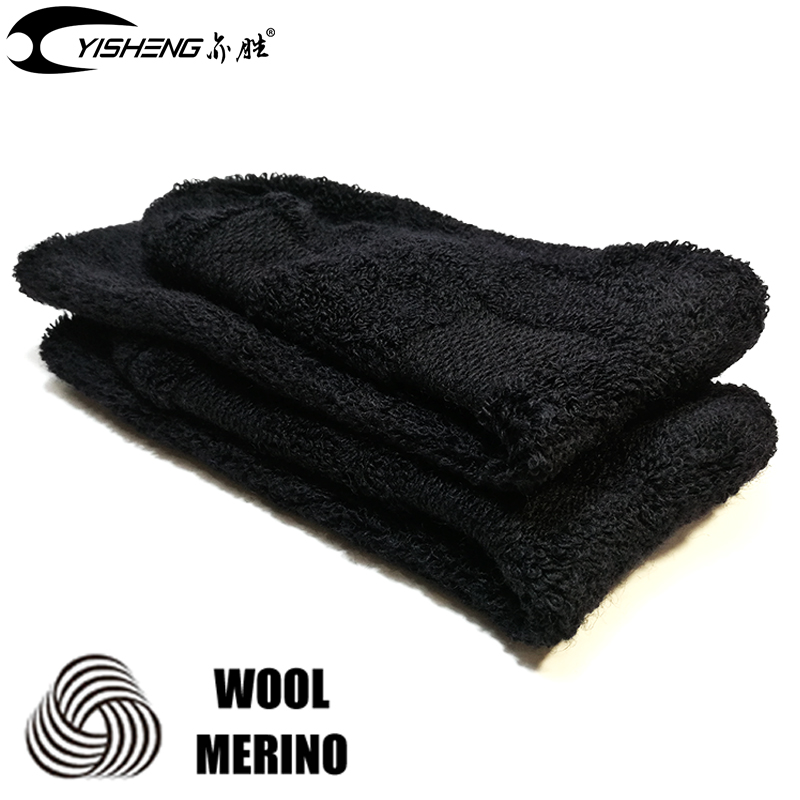 YISHENG Winter Warm Merino Wool Socks Terry Thick Long Sports Skiing Socks Classic Good  ...