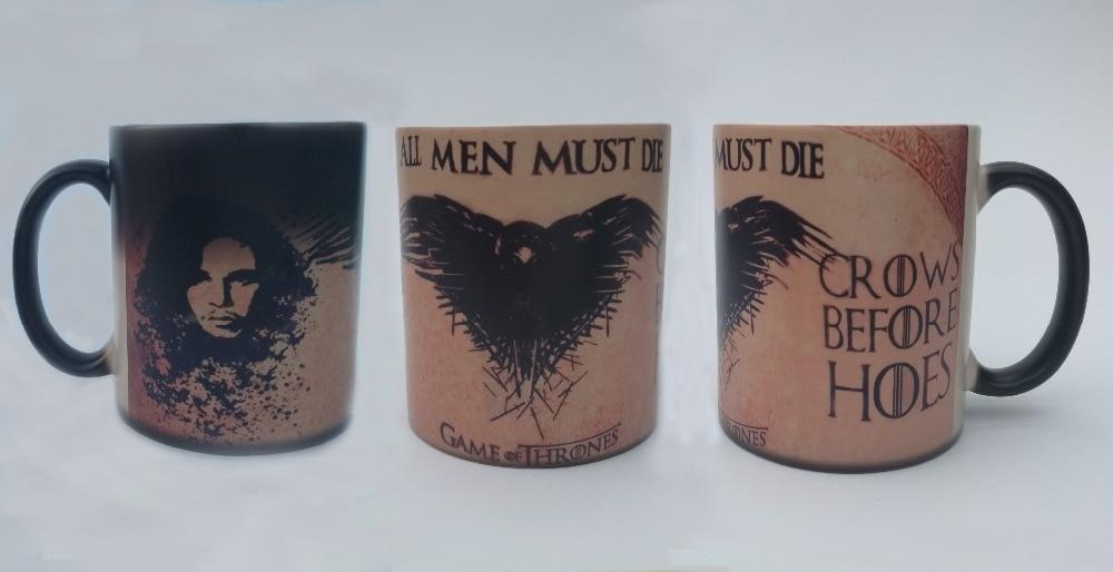game of thrones mugs jon snow mug cold hot sensitive heat reveal coffee mugs novelty ceramic