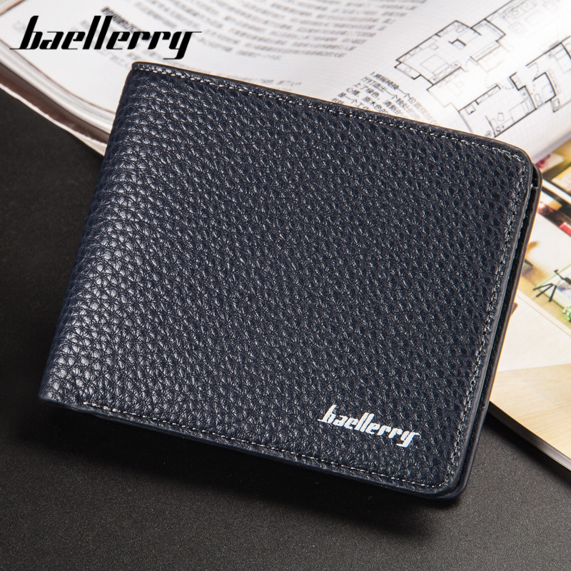 Baellerry wallet men multifunction purse wallets with coin pocket no zipper Dermatoglyphs  wallet male famous brand money bag
