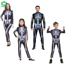 Halloween Horror Skeleton Cosplay Costume Masquerade Children Adult Men and Women Products Costumes fancy dress Play Party
