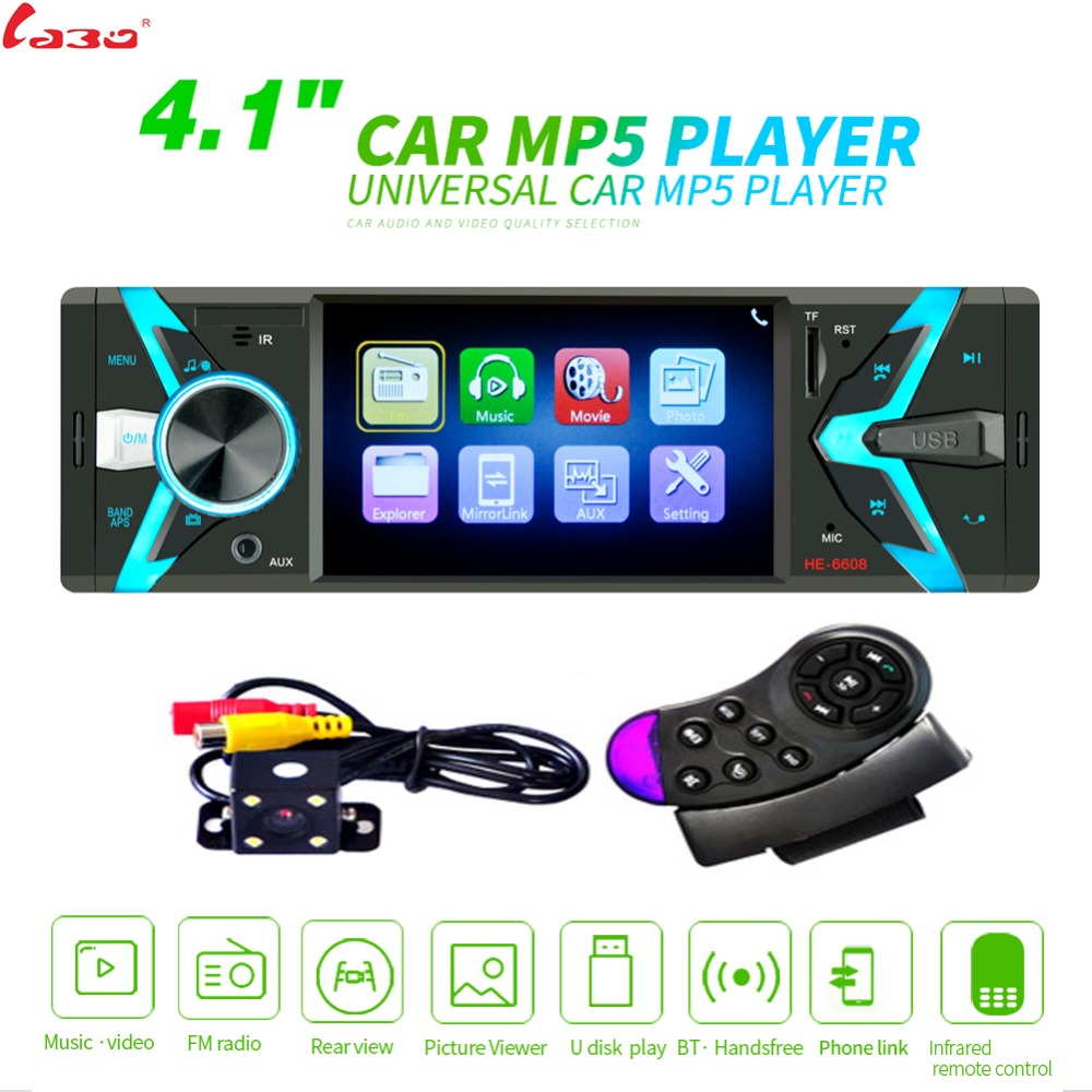LaBo Autoradio 1din Car Radio 4 1 HD Autoradio Multimedia Player 1DIN Auto audio Car Stereo