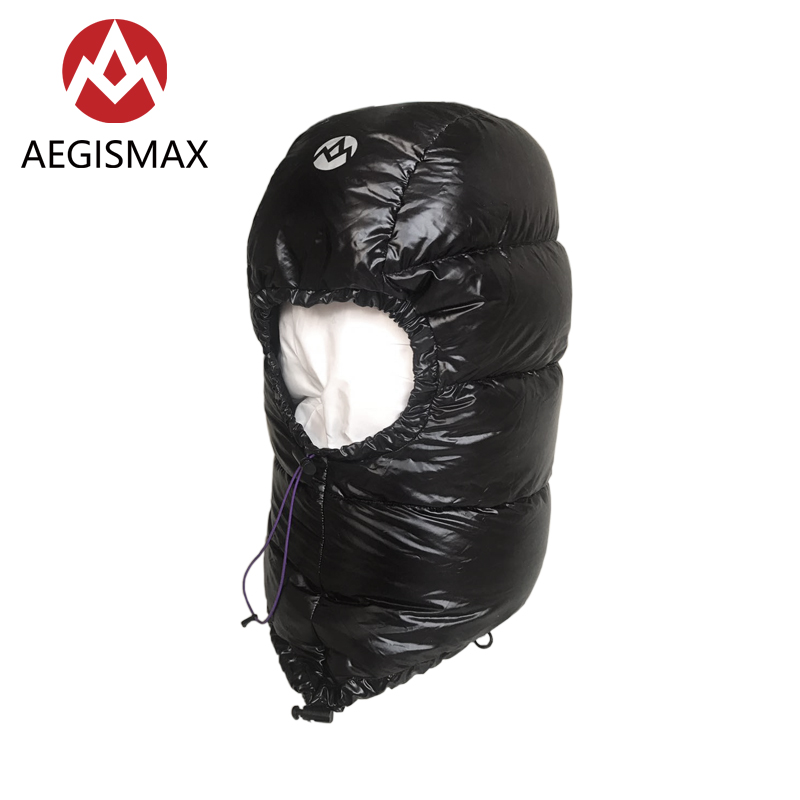 Aegismax Winter 800FP Goose Down Hat for Men Women Outdoor Camping Caps Hood Ultralight Envelope Sleeping Bag Accessories kingcamp favourer 450mix envelope 32 degree f 0 degree c down spliced micro fiber sleeping bag with hood for camping