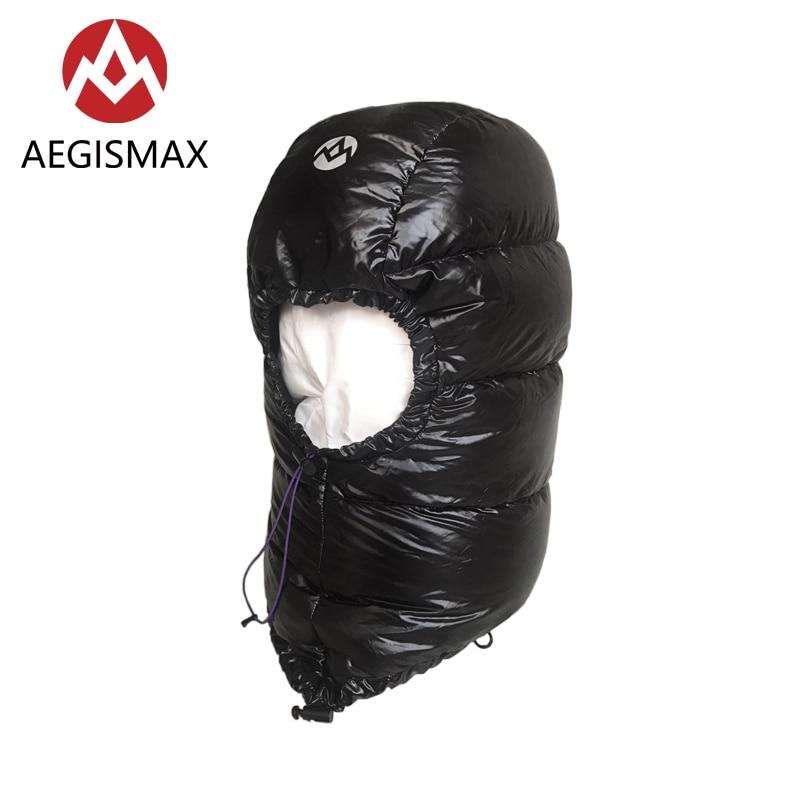 Aegismax Winter 800FP Goose Down Hat for Men Women Outdoor Camping Caps Hood Ultralight Envelope Sleeping Bag Accessories