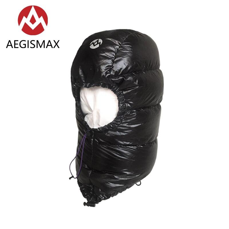 Aegismax invierno 800FP ganso sombrero para hombres al aire libre de las mujeres al aire libre Camping tapas Hood ultraligero de dormir bolsa de accesorios