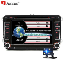 "Junsun 7 ""2 din Araba DVD GPS radyo stereo oynatıcı Volkswagen VW golf 6 touran passat B7 sharan Touran polo tiguan ücretsiz hediye"