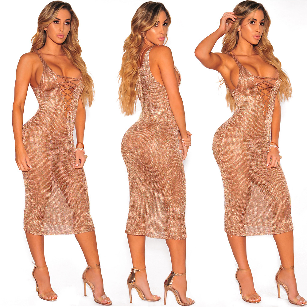 Classy Undefined 2017 Women Sexy Summer Sequins See Through Beach Hollow Out See See Through Dresses Sale Uk See Through Dresses Uk