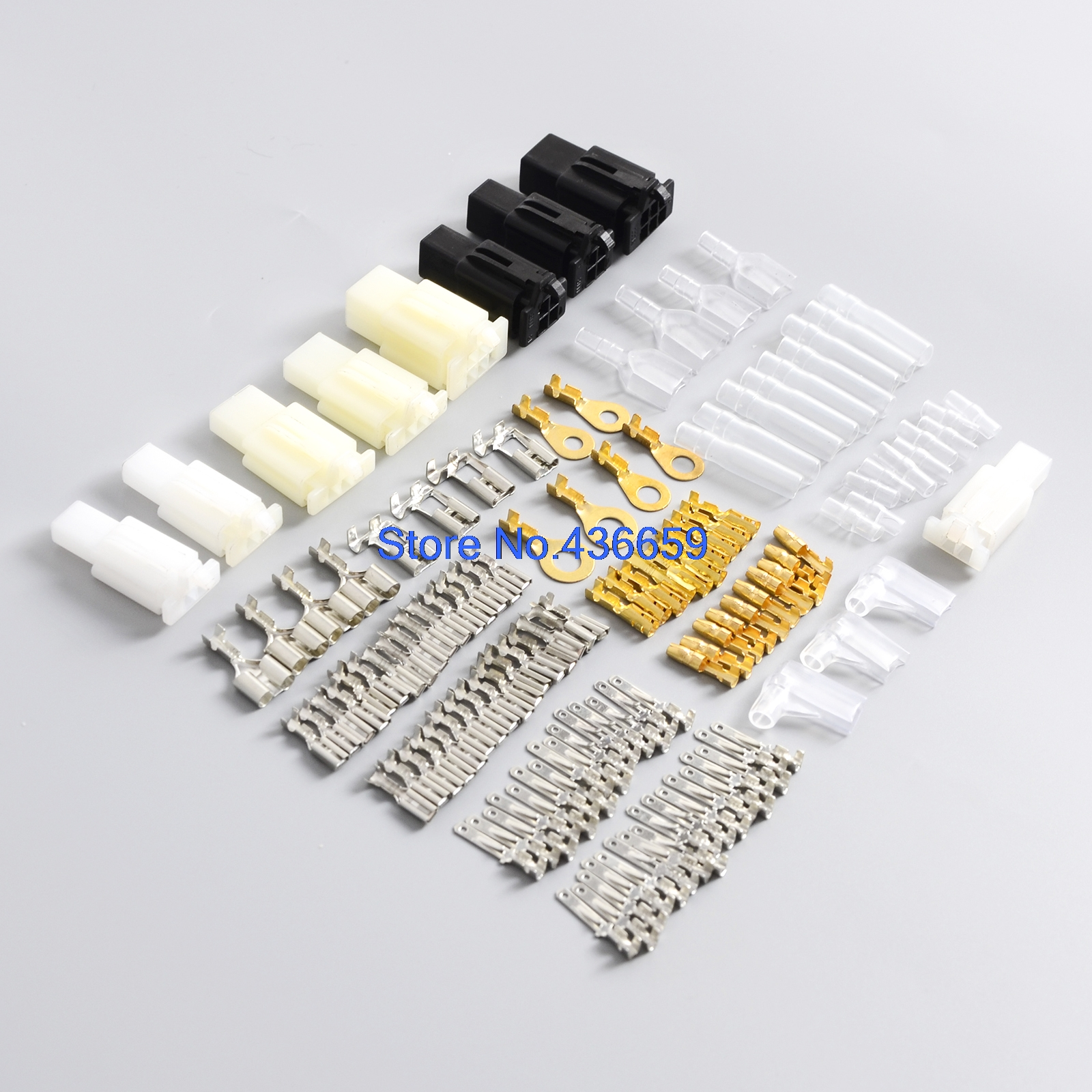 Motorcycle Connector Wiring Loom Automotive Harness Auto Terminal Insulation Repair Kit Pvc Covers Tin Plate Brass Terminals In Fuses From Automobiles