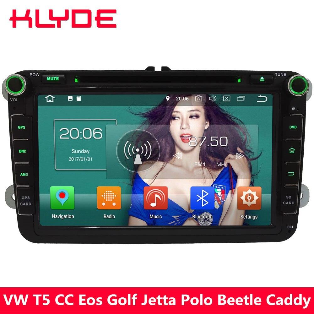 KLYDE 4G Octa Core Android 8.0 4 GB + 32 GB voiture lecteur DVD Radio pour Volkswagen Beetle Magotan Touran Eos Skoda Octavia superbe Fabia