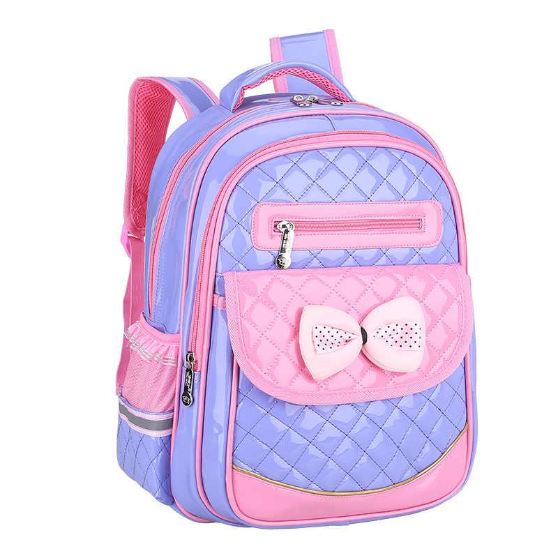0991a12435c4 Водонепроницаемый детская школьная сумка ортопедические школьный начальной  принцессы школьный рюкзак для девочек Дети Рюкзак портфель sac