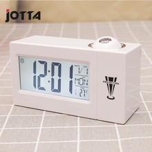 Temperature electronic clock sleep alarm projection sound control LCD