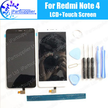 For Xiaomi Redmi Note 4 LCD Display+Touch Screen 100% High Quality  LCD Digitizer Glass Panel Replacement For Xiaomi Redmi Note4