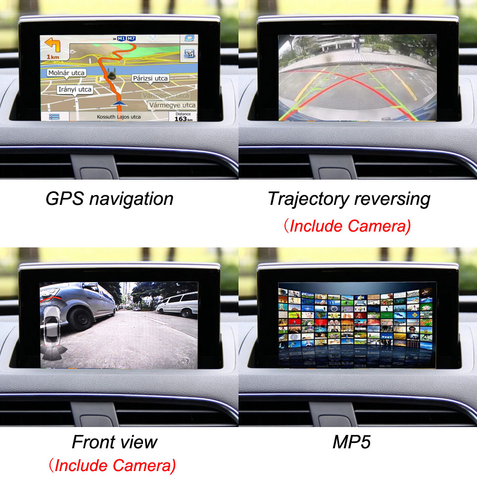 Car original Screen to upgrade Multimedia Audio video system suit to Audi Q3 GPS navigation Bluetooth MP5 car dynamic trajectory